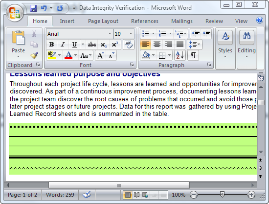 Insert Horizontal Lines In Word Documents Quickly