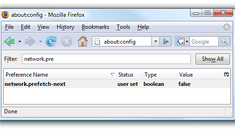 Quick Tip: Turn off Prefetching in Firefox