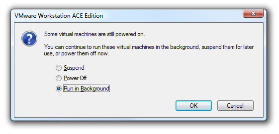 Make Virtual Machines Always Hide To The System Tray in VMware