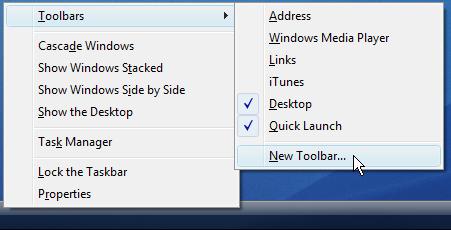 """Add """"My Computer"""" to Your Windows 7 / Vista Taskbar"""