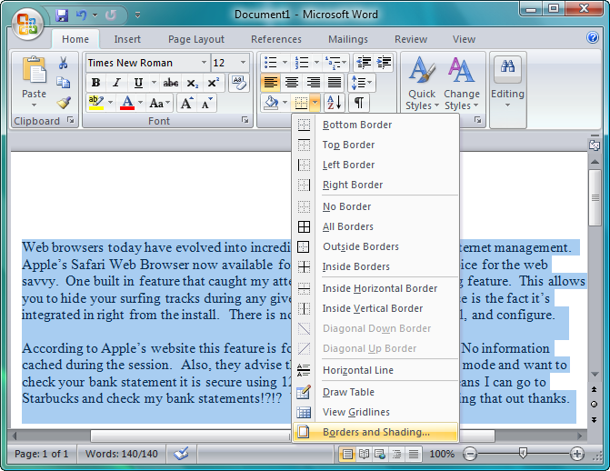 how to keep the home ribbon down in microsoft word
