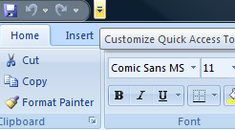 Quick Tip: Customize Your Excel 2007 Quick Access Toolbar