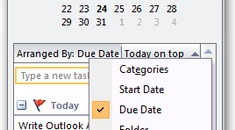 Make To-Do Bar in Outlook 2007 Show Only Today's Tasks