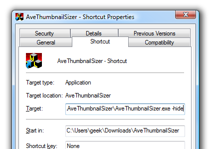 how to change taskbar preview size