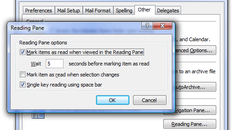 Make Outlook 2007 Mark Items as Read When Viewed in Reading Pane
