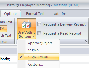 how to create voting option in outlook