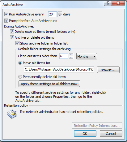 How do i find my archived emails in outlook 2007