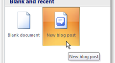 Using Word 2007 as a Blogging Tool
