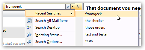 Clear outlook searches and mru most recently used lists ccuart Choice Image