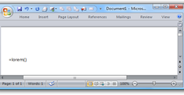 Undocumented Microsoft Word Feature: Insert Lorem Ipsum Text