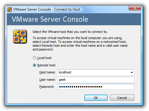 Connect to VMware Server Console Over SSH