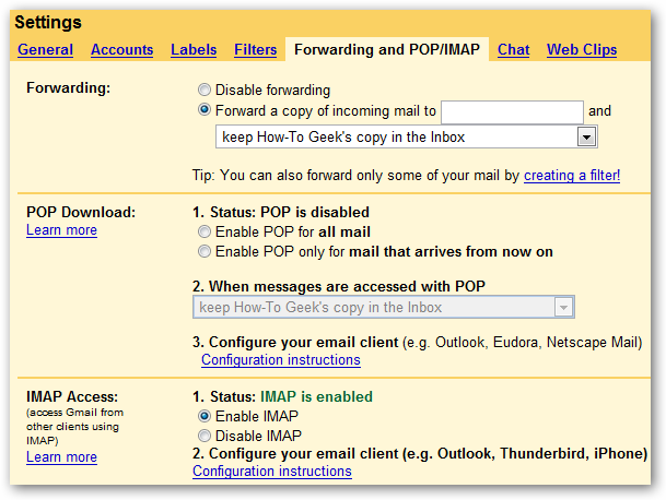 Setting up Gmail IMAP Support for Windows Vista Mail