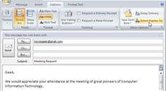 Send Email Replies To Another Recipient In Outlook 2007