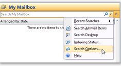 Disabling Instant Search in Outlook 2007