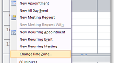 Show Two Time Zones in Your Outlook 2007 Calendar