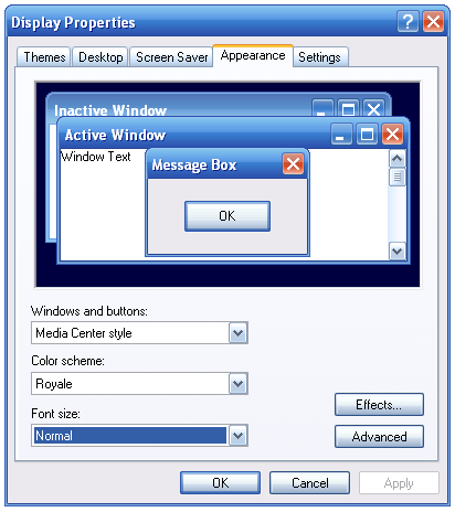 unofficial windows xp themes created by microsoft