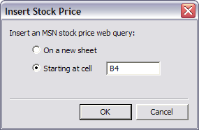 Download and Keep Track of Stocks in Excel 2007