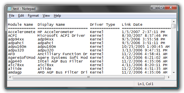 Generate a List of Installed Drivers from the Command Line