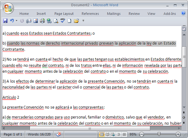 Translate Selected Text in Microsoft Word 2007