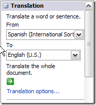 how to translate english to chinese in microsoft word 2007