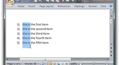 Select Text Vertically in Microsoft Word