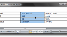 Easier Table Column Selection in Microsoft Word