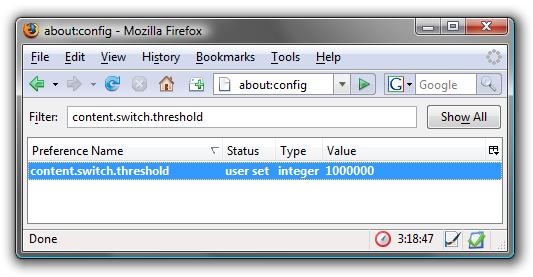 "Tweak Firefox's ""Responsiveness"" Config Setting"