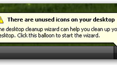 """Stop the Annoying """"There are unused icons on your desktop"""" Popup Balloon"""