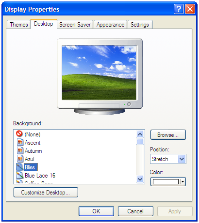 Change Default Wallpaper Folder To My Pictures On Windows XP