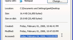 Speed Up Disk Access by Disabling Last Access Updating in Windows XP