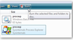 Disable Windows Vista's Built-in CD/DVD Burning Features