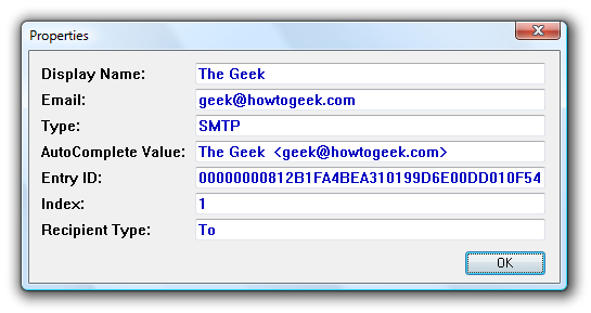 Manage Your Outlook Email Address Auto-Complete List