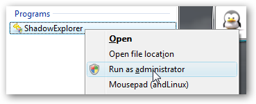 RECOVER FILES WITH SHADOW COPIES
