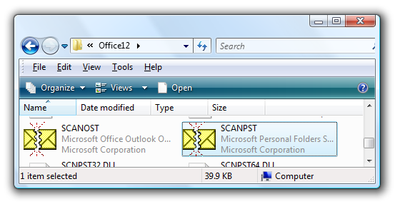 scanost.exe outlook 2010