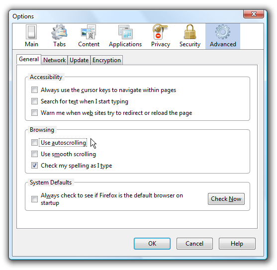 Disable That Irritating AutoScroll Feature in Firefox