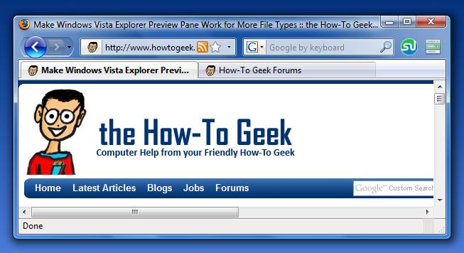 Make Firefox 3 Use Windows Vista Glass Like Internet Explorer Does