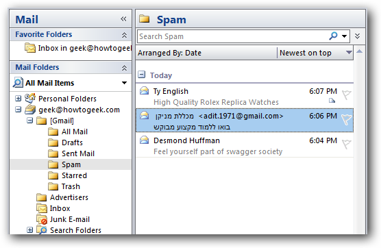 Get Rid of the Unread Spam Message Count in Gmail and Your IMAP Client