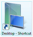 Desktop Shortcut to open desktop folder