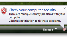 Disable Security Center Popup Notifications in Windows Vista