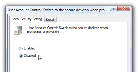 Make User Account Control (UAC) Stop Blacking Out the Screen