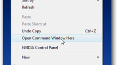 Open a Command Prompt in Any Folder from the Right-Click Menu