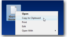 Create a Context Menu Item to Copy a Text File To the Clipboard in Windows 7 / Vista / XP