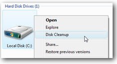 Add Disk Cleanup to the Right-Click Menu for a Drive