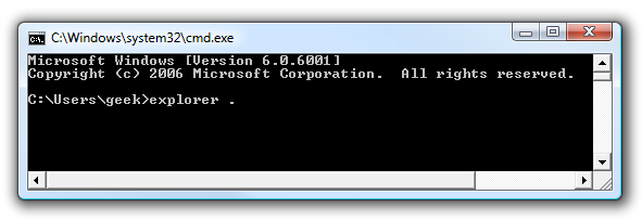 Open a File Browser From Your Current Command Prompt