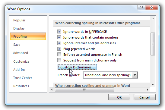 Transfer or Move Your Microsoft Office Custom Dictionary