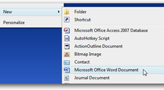 """Add Word/Excel 97-2003 Documents Back to the """"New"""" Context Menu After Installing Office 2007"""