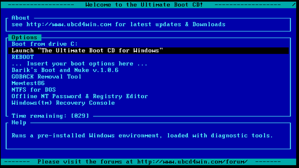 Ultimate Boot Cd For Vista