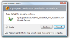 Turn Off the Obnoxious HP Driver UAC Popup Update Check in Vista