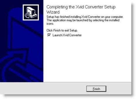 xvid converter setup wizard launch