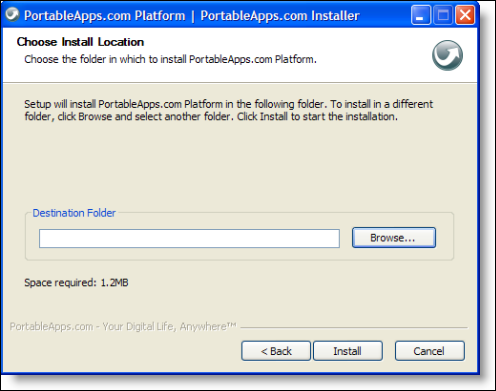 portableapps.com choose destination folder